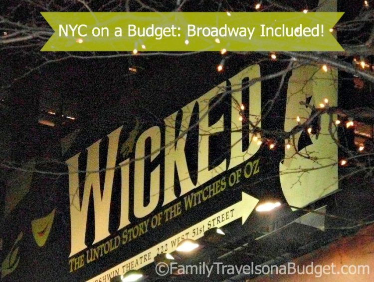 New York City Budget Broadway