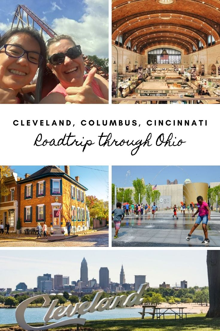 Take a road trip through Ohio's major cities (Cleveland, Columbus and Cincinnati) to discover Ohio's amazing history, rich culture and great food. Fun attractions make it great for family road trips. See the Cleveland Zoo, Rock 'n Roll Hall of Fame, Columbus Zoo, Zoombezi Bay Water Park, the National Underground Railroad Freedom Center, COSI, Kings Island and much more! This post includes where to stay, things to do for history, adventure, family fun and foodie trips to make it what you want!