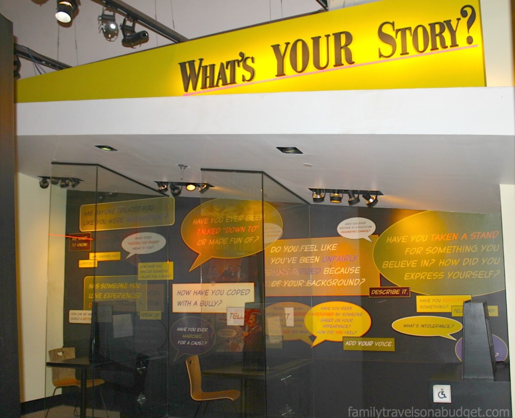 "Birmingham Civil Rights Institute: Interactive ""What's Your Story?"" Exhibit"