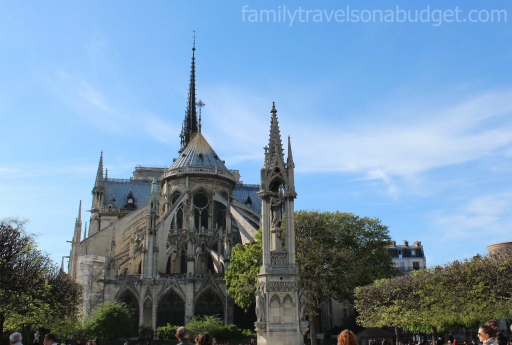 Photos of the Notre Dame Cathedral spires