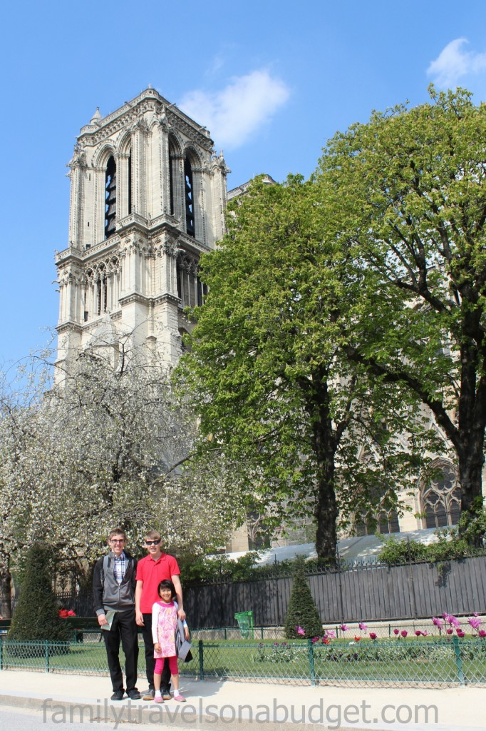 Notre Dame bell tower tour with kids