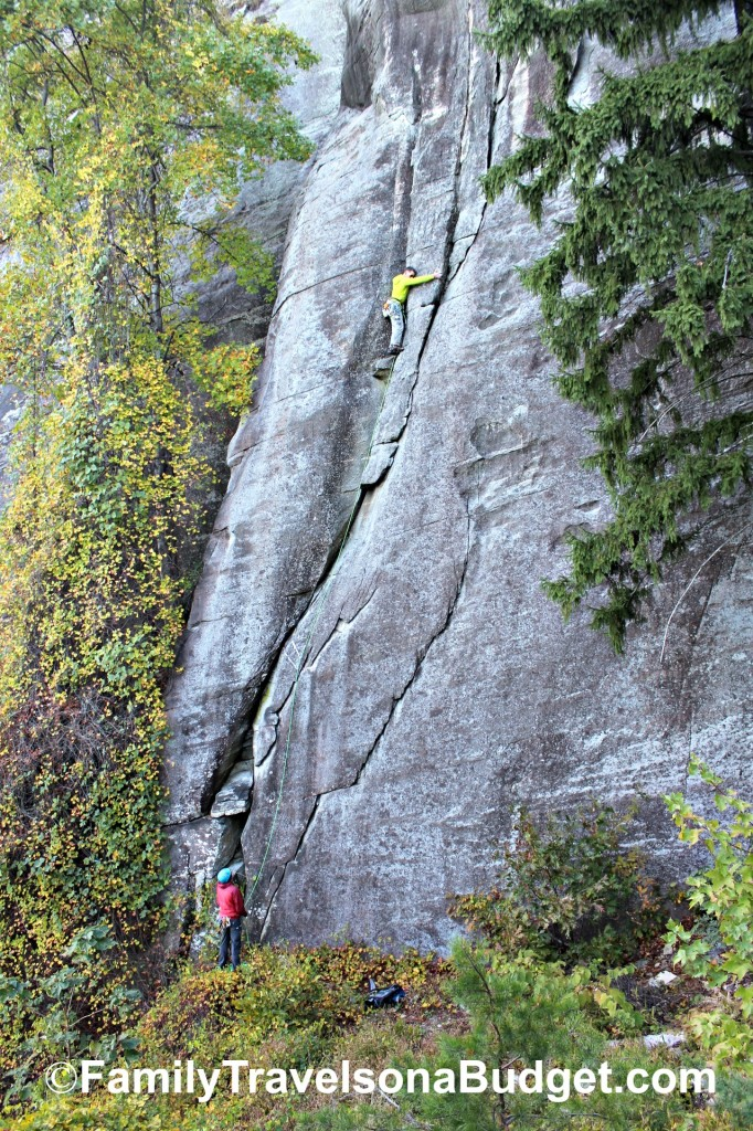 rock climbing chimney rock