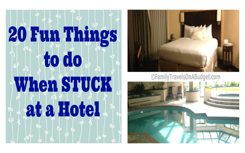 What to do when stuck at a hotel besides hang out in your room or the pool.