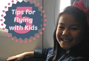 Tips for Flying with Kids Title