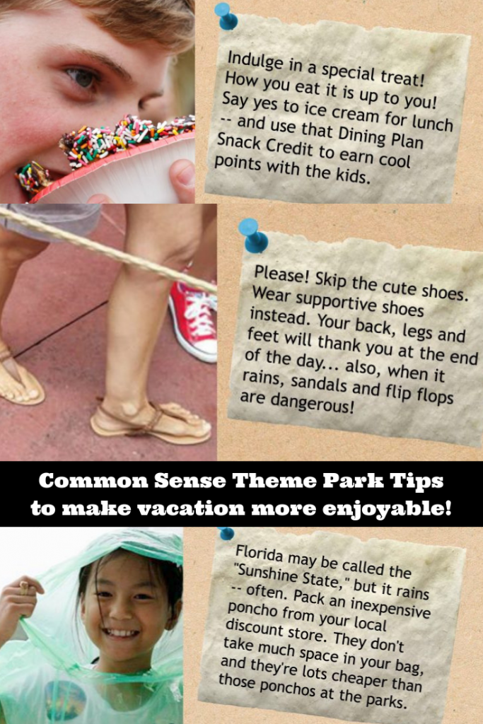 Common sense theme park tips for a family vacation without the whining!