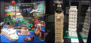 Two examples of the awesome LEGO creations in the LEGO Travel Adventure Special Exhibit.