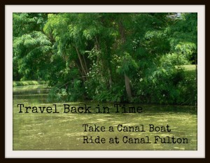 Travel back in time by taking a canal boat ride up and down the Ohio & Eerie Canal.