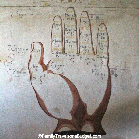 Guidonian Hand at Mission San Luis