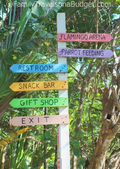 Ardastra Gardens signpost