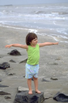Kid at the Beach, Louisiana Outback