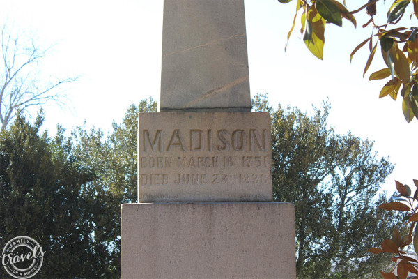 James Madison's Grave Marker at Montpelier