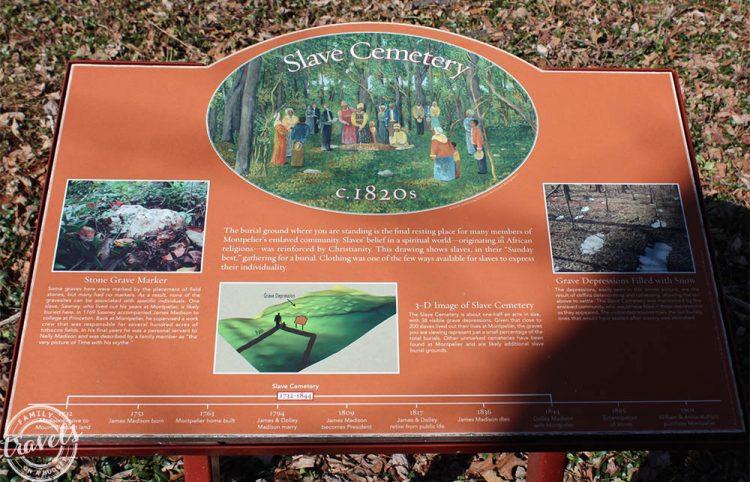 Montpelier: Slave Cemetery explained
