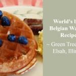Belgian Waffles at the Green Tree Inn
