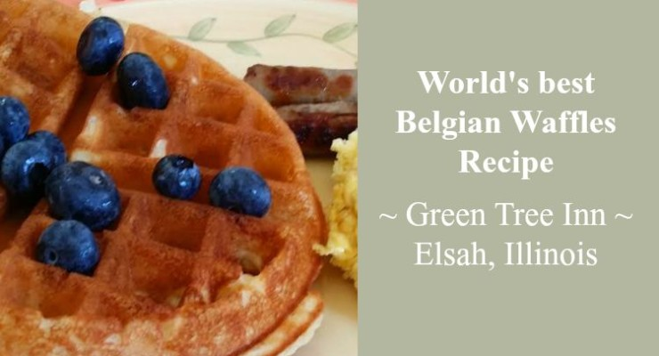 Belgian Waffles at the Green Tree Inn