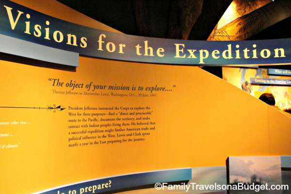Lewis and Clark Info Wall