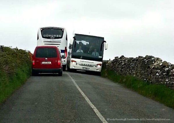 Driving near the Cliffs of Moher