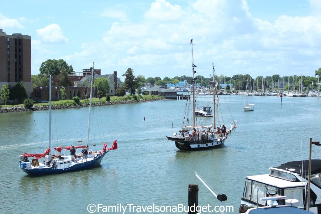 Pirate battle in Hampton VA