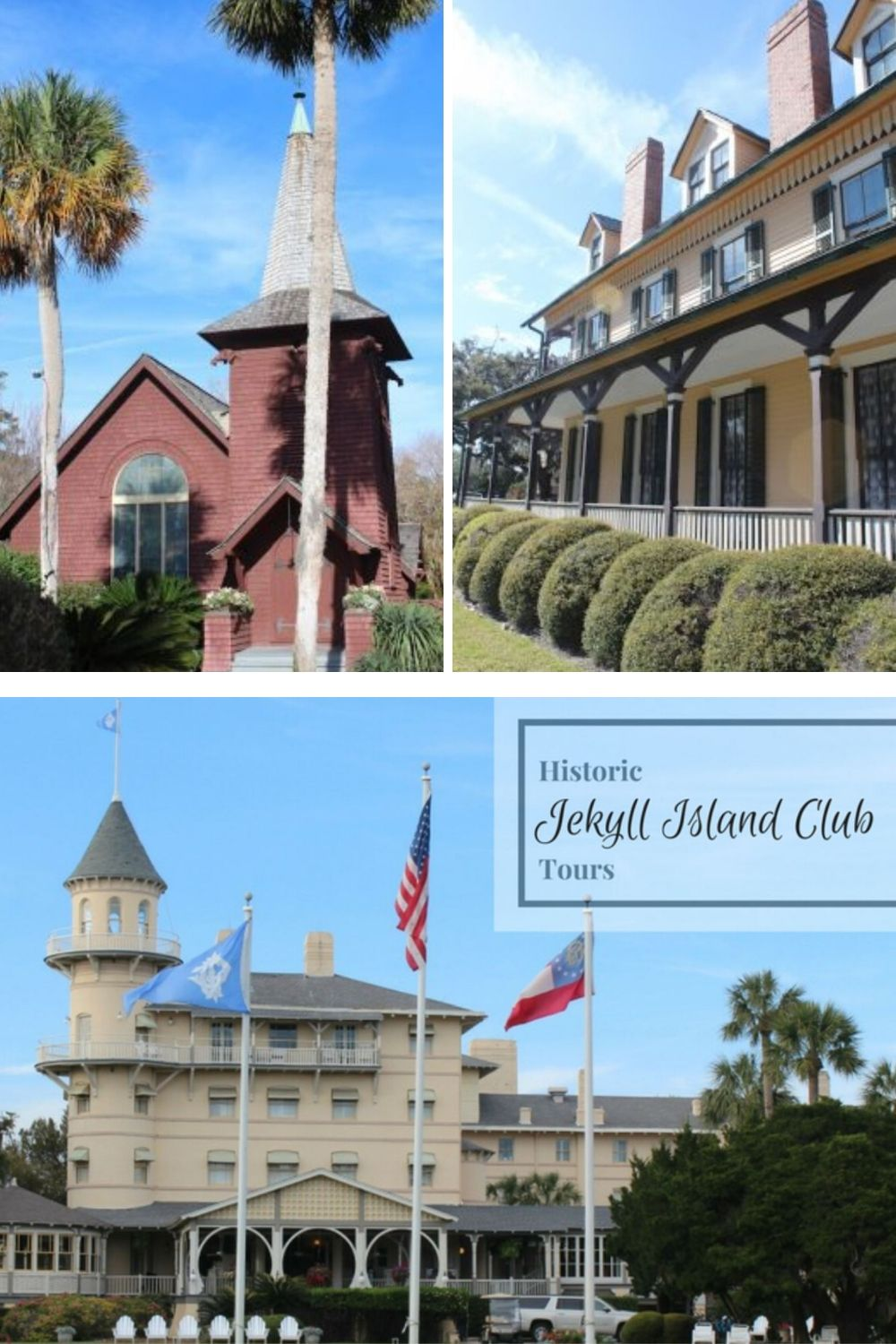 Looking for fun things to do on Jekyll Island, Georgia? A Jekyll Island Club Tour is fun for all ages. Hear stories of the rich and famous, learn about architecture and enjoy the trolley ride. #jekyllisland #jekyllislandgeorgia #thingstodoinjekyllisland #jekyllislandvacation #jekyllislandhistory #jekyllislandclubresort #jekyllislandtours #jekyllislandgeorgiavacations #goldenisles #goldenislesgeorgia