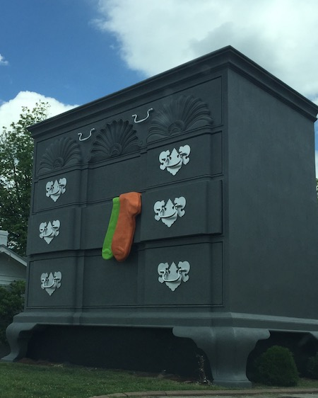 Giant chest of drawers with socks sticking out in High Point is one of NC's best kept secrets