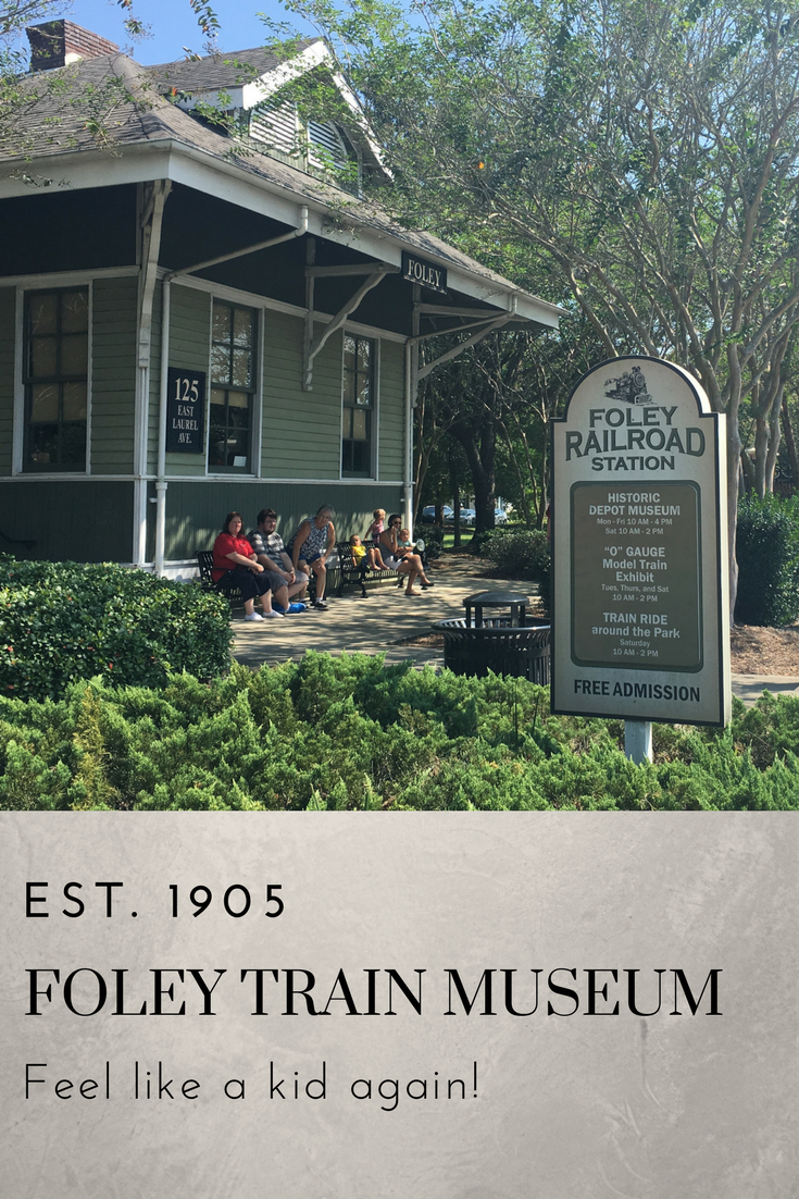 Foley train museum in the old train depot