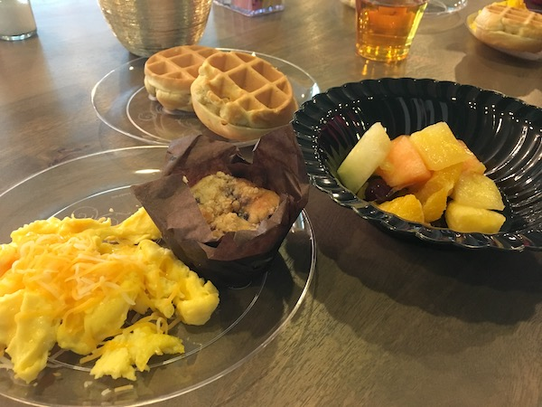 Breakfast buffet at Turquoise Place Orange Beach vacation rentals is a great perk