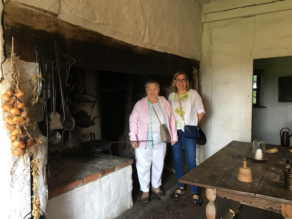 Massive fireplace used to heat and to cook in the Hans Herr House