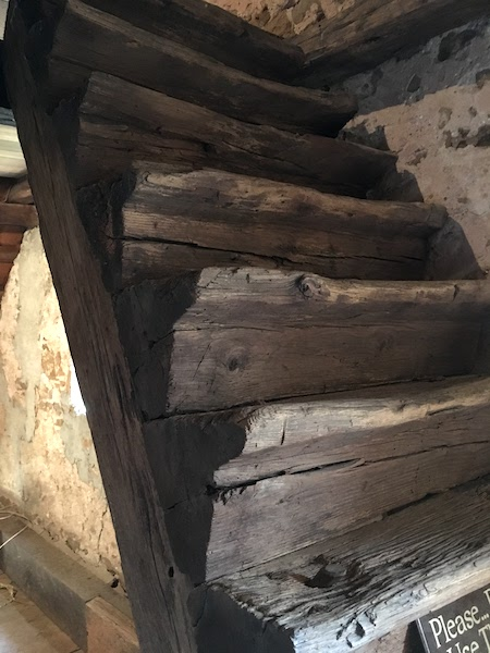 The only wooden log stairs in the United States