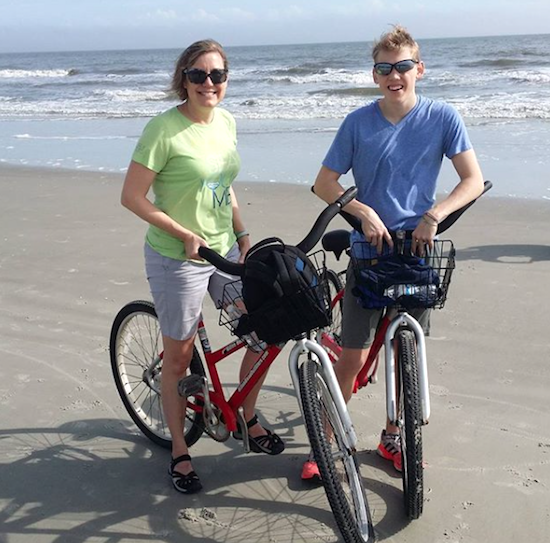 Adventure vacations might include biking on the beach.