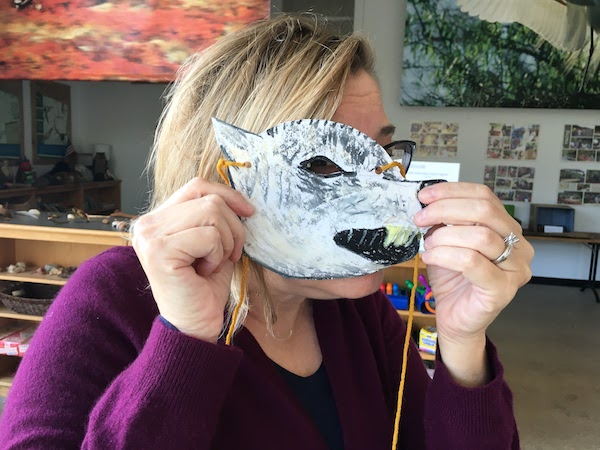 Wolf mask! Grown ups can play too at this museum