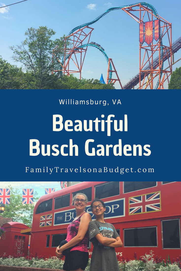 A complete guide to what you need to know to visit Busch Gardens, Virginia with ride reviews, food info and tips to help you plan. #buschgardens #buschgardenswilliamsburg #buschgardenswilliamsburgtips #buschgardenswilliamsburgkids #buschgardenswilliamsburgrides #buschgardensrollercoasters #buschgardenstips #buschgardensvirginia #thingstodoinwilliamsburgvirginia #williamsburgvirginiakids #themeparksintheus #themeparks #themeparksusa