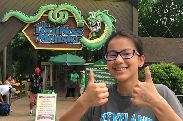 Loch Ness Monster Roller Coaster at Busch Gardens