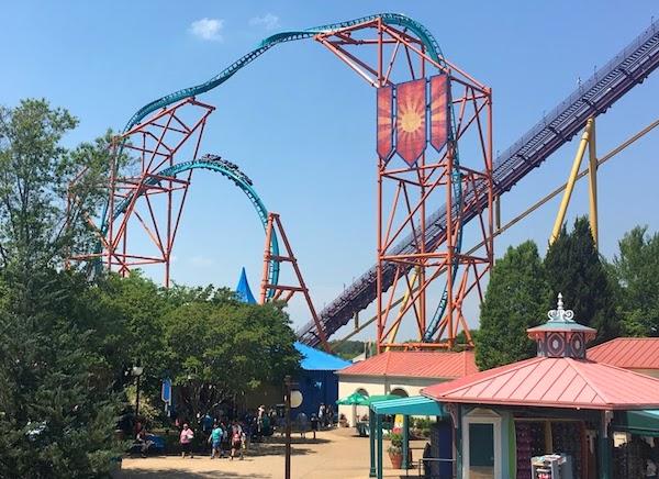 Festa Italia at Busch Gardens Tempesto coaster
