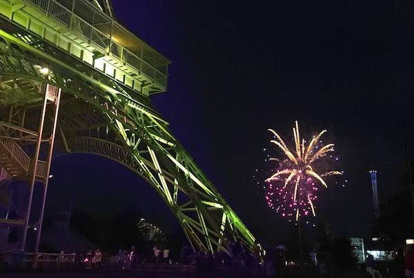 Eiffel Tower and Fireworks at King's Island