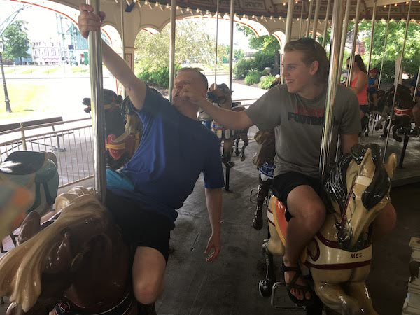 Built in the 1920's, this historic carousel is still fun today