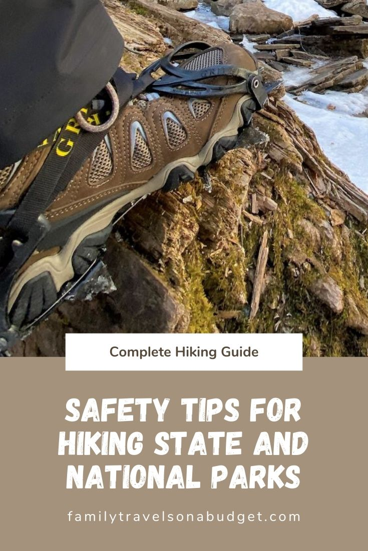 Essential safety tips for hiking at state and national parks. Especially for beginners but a good reminder for all, includes best gear recommendations and some great day trip hiking trails across the United States. #gooutside #adventurer #nationalparks #hikingsafety #hikingsafetytips #hikingtipsforbeginners #beginnerhikingtips #firsttimehikingtips #hikinggear