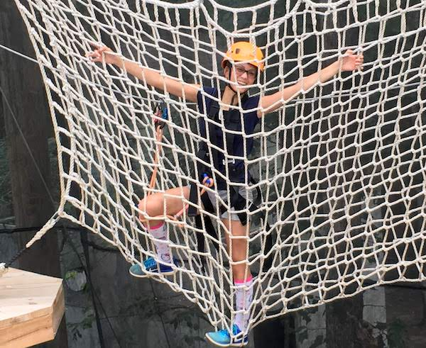 Rope net challenge at Xtreme Park Adventures