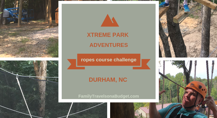 High flying fun on the Xtreme Park ropes course