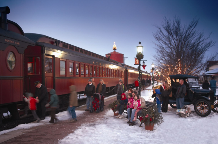Christmas in Lancaster County at Strasburg Railroad Christmas train rides