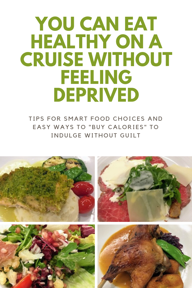 Planning a cruise and want to stay healthy? These tips will help you eat healthy (healthier) without missing out on the fun! #healthyeatingtips #healthyeatingtipsvacation #cruisetips #cruisevacationtips #howtoeathealthyonacruise #healthycruisetips #healthylivingtips #healthyvacationtips
