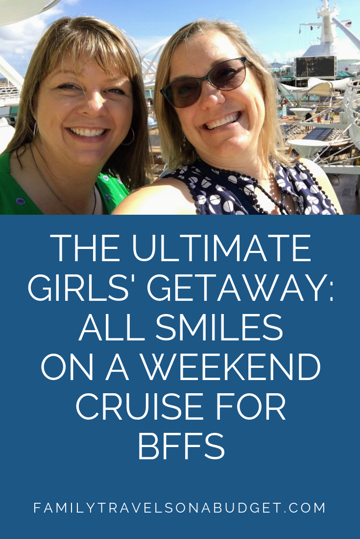Tips and strategies to plan the perfect girlfriend cruise to the Bahamas. How to plan a 4 day cruise. Royal Caribbean ship review. Things to do in Nassau... It's all here for you! #bahamasstrong #ilovebahamas #themidlifeperspective #weekendcruise #girlfriendgetaways #girlsweekend #weekendcruiseroyalcaribbean #bahamascruise #bahamascruisenassau #bahamascruisetips