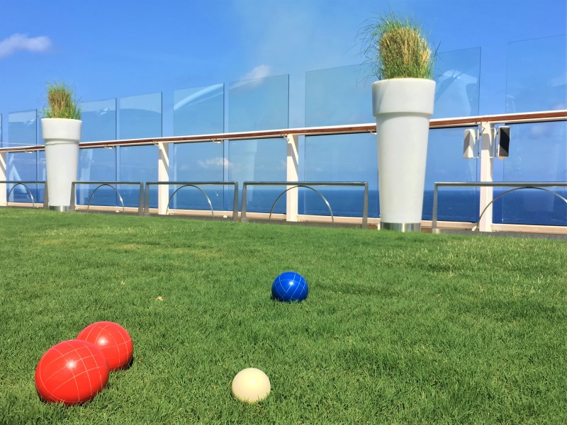 Deck 15 of Celebrity Equinox and Solstice Class Ships has a grassy lawn