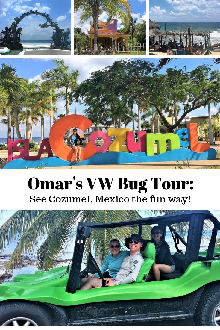 For fun, independent shore excursions in Cozumel, consider Omar's VW Buggy Tours (AD), which show you this beautiful Mexican port island in six hours! Tour includes snorkeling, tour of a traditional town, lunch prepared tableside and swimming. Our review shows you what to expect and offers tips to make your day even better! #cruising #shoreexcursions #Mexico #Cozumel