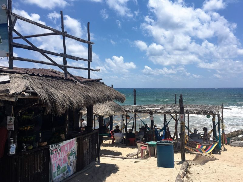 Cozumel restaurant on the beach