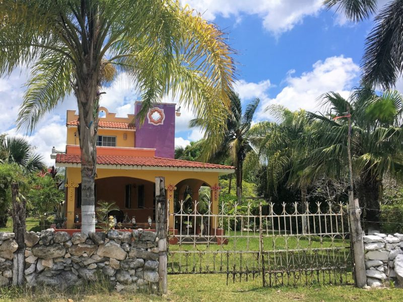 House in a Cozumel town