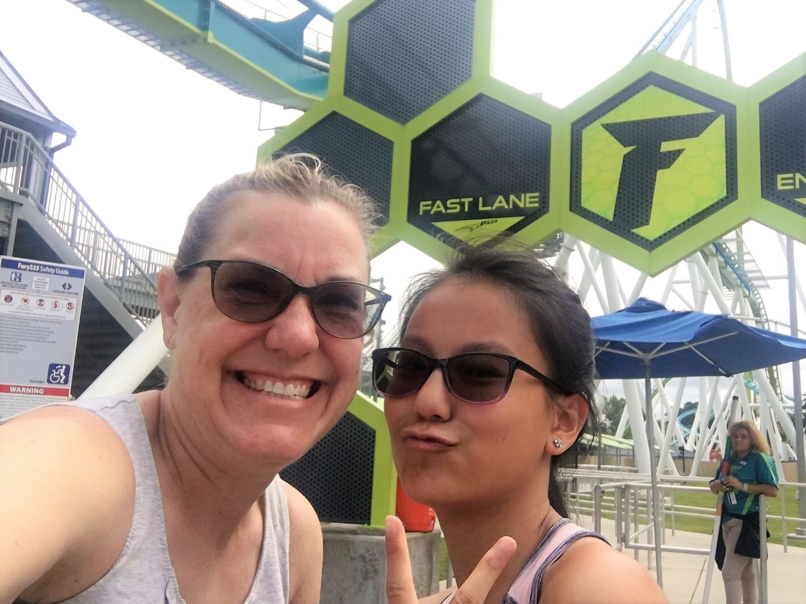In front of the fast lane pass at Fury 325