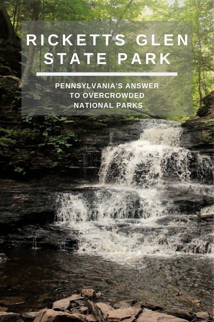 Onondaga Falls at Ricketts Glen State Park in PA