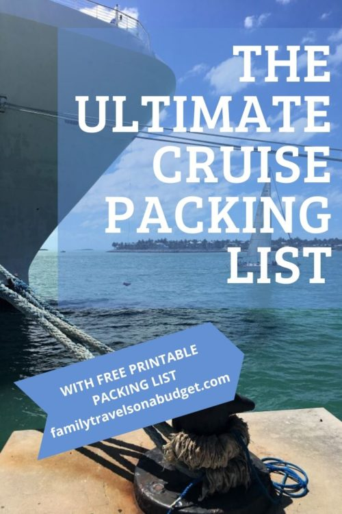 Cruise Packing List | Free Printable Complete Cruise Packing List that includes a detailed list of essentials, electronics, clothing and more. Also includes a list of things not to bring by cruise line and tips to make packing easier! #cruisepackinglist #cruisepackingtips #bestvacationpacking #beachvacationpacking #caribbeancruise #caribbeanpackinglist #daytriptips #beachbag #bermudacruise via @karendawkins