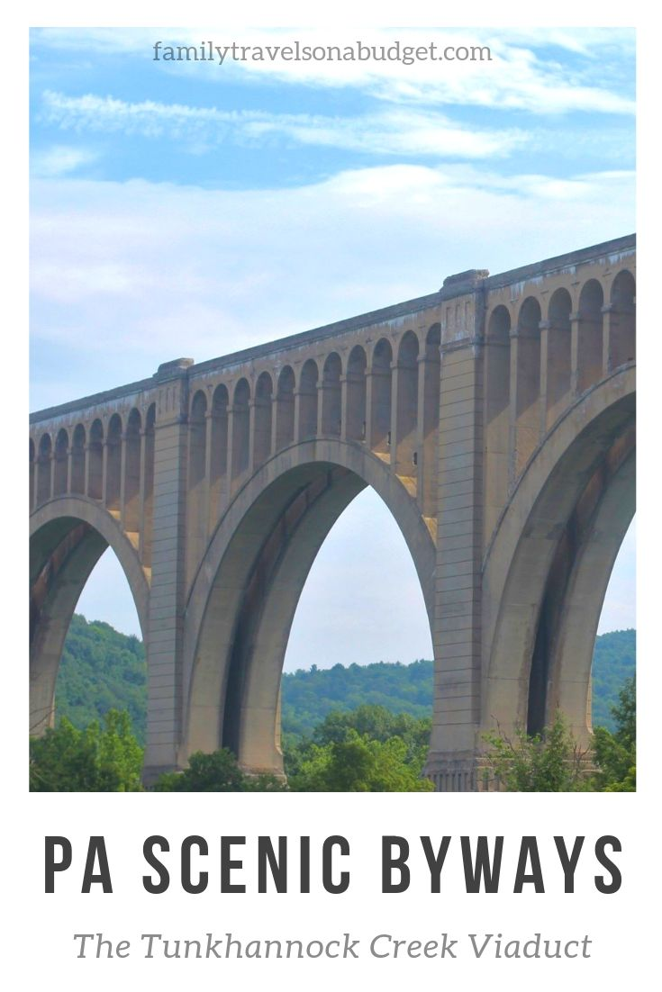 Pennsylvania Scenic Byways offer views of the Tunkhannock Creek Viaduct