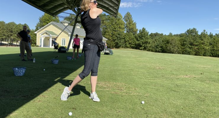 Golf lesson at Independence Golf Club