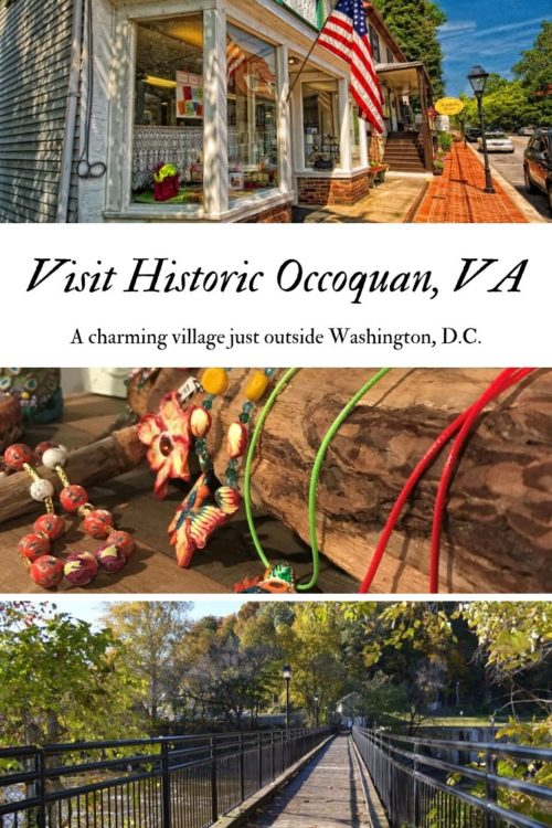 Charming Occoquan, Virginia sits just off I-95 just south of Washington, DC. It's location is perfect for a day trip from DC OR for taking a break on a long road trip. Waterfront restaurants | casual, local restaurants | great shopping | parks and FREE PARKING! What could be better? #dinelocal #virginia #visitvirginia #washingtondc #dcdaytrips #historicdc #historicvirginia #artgalleriesvirginia #artgallerieswashingtondc #princewilliamcounty #dccountryside via @karendawkins